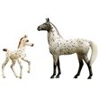 BREYER KONĚ SPOTTED WONDERS KNABSTRUPPER AND FOAL