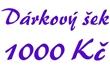 Dárkový šek 1000 Kč elektronický