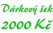 Dárkový šek 2000 Kč elektronický