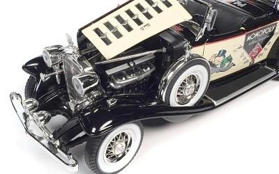CADILLAC V16 SPORT PHAETON MR. MONOPOLY CAR & RESIN FIGURE 1932