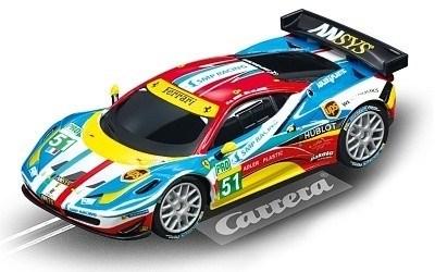 AUTO NA AUTODRÁHU CARRERA GO 64053 FERRARI 458 ITALIA GT2 AF CORSE NO.51
