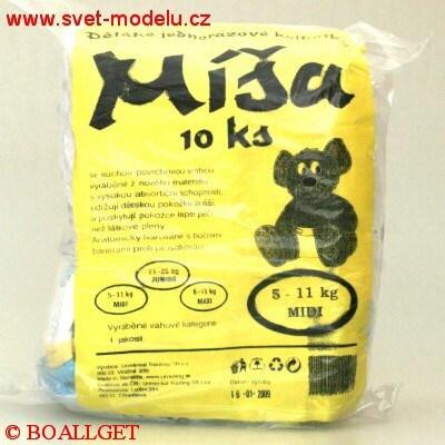 Míša MIDI dětské jednorázové kalhotky 10 ks 5-11 kg