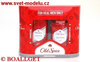 Old Spice Original dárková sada - kazeta - sprchový gel 250ml + tuhý deo stick 60 ml