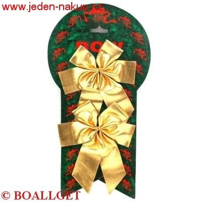 Mašle vánoční 2 ks 10cm - na platu