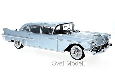 CADILLAC FLEETWOOD 75 LIMOUSINE 1958 BLUE