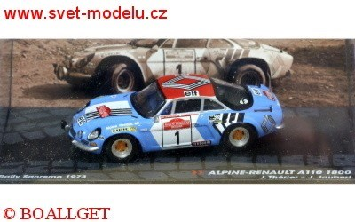 RENAULT ALPINE A110 1800 No.1 TH�RIE/JAUBERT RALLY SAN RENO 1973