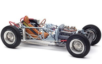 Lancia D50 1955 Rolling Chassis inkl. Bodenplatte Limited Edition 1000 Stück