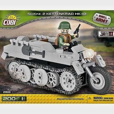 COBI 2168 SMALL ARMY WWII SD. KFZ 2 KETTENKRAD HK-101