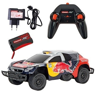 RC AUTO CARRERA PEUGEOT RED BULL DAKAR 2,4 GHz