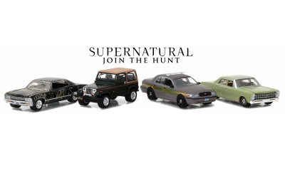 4 CARS HOLLYWOOD FILM REELS SERIES SUPERNATURAL JOIN THE HUNT LOVCI DŮCHŮ