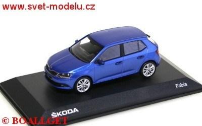 ŠKODA FABIA III RACE BLUE 1:43 I-SCALE