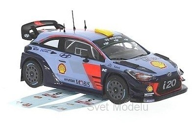 HYUNDAI I20 WRC 2017 RALLY WALES WITH TWO DECALS FOR NUMBER 5 AND 8