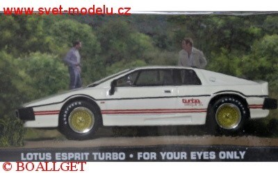 LOTUS ESPRIT TURBO WHITE JAMES BOND 007 FOR YOUR EYES ONLY 1981