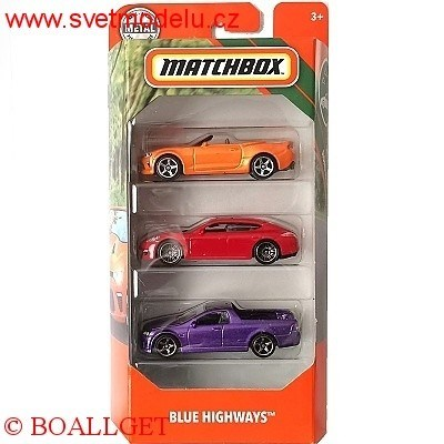 AUTÍČKA MATCHBOX 3-PACK
