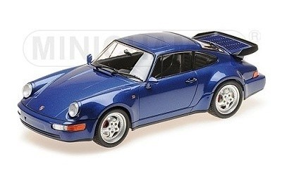 PORSCHE 911 TURBO (964) 1990 BLUE METALLIC