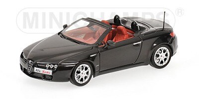 ALFA ROMEO SPIDER 2007 BLACK METALLIC L.E. 1296 PCS.