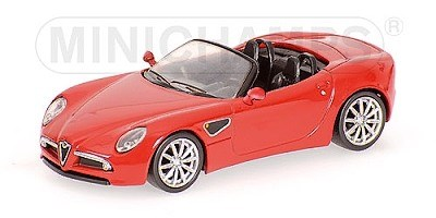 ALFA ROMEO 8C SPIDER 2007 RED