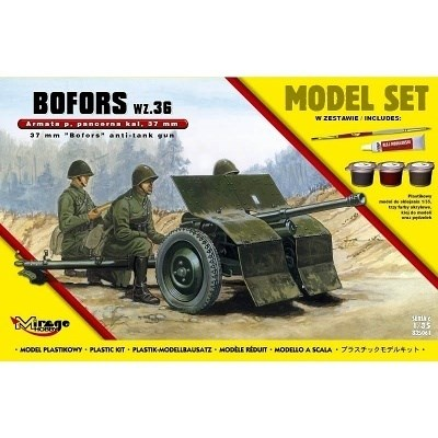 ANTI-TANK GUN BOFORS 35mm WZ36 MODEL SET