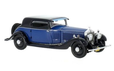 ROLLS ROYCE PHANTOM II CONTINENTAL WINDOVERS COUPE 1932 BLUE