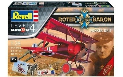 REVELL 05778 FOKKERR DR.1 RED BARON 125 YEAR LIMITED EDITION