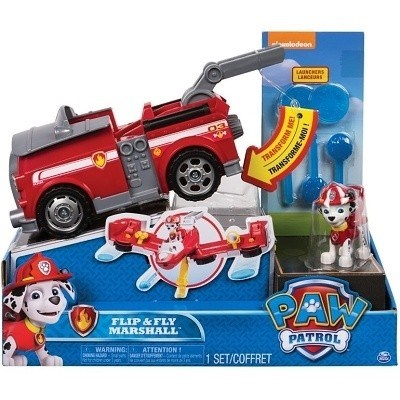 TLAPKOVÁ PATROLA PAW PATROL TRANSFORMERS FLIP AND FLY MARSHALL
