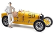 BUGATTI T35 YELLOW No. 58 with FEMALE RACER FIGURE LIMITED EDITION 600 PCS.