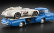 MERCEDES-BENZ RACING CAR TRANSPORTER THE BLUE WONDER 1954/55 REVISED EDITION WITH MERCEDES-BENZ 300SLR  #701 DIRTY HERO BUNDLE LIMITED EDITION 1000 PCS.