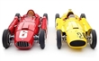 Ferrari D50 (yellow) and CMC Lancia D50 (red)