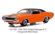 DODGE CHALLENGER R/T 1970 ORANGE WITH BLACK STRIPES