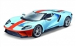 FORD GT 2017 BLUE ORANGE STRIPES