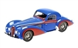 DELAHAYE TYPE 145 V-12 COUPE 1937 BLUE/RED L.E. 170 pcs. MODELY AUT MINICHAMPS 107116121