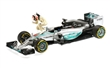MERCEDES AMG PETRONAS F1 TEAM W06 HYBRID LEWIS HAMILTON WINNER USA GP 2015 SET W/ FIGURINE L.E. 1015 pcs.