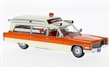 CADILLAC S&S HIGH TOP AMBULANCE 1966 WHITE / ORANGE