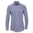 Pánská košile popelín Casa Moda Comfort Fit s modrým proužkem, všitý límec a manžety vel. 43 - 46 (XL - XXL)