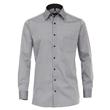 Pánská košile Casa Moda Fit stříbrná popelínová dlouhý rukáv vel. 50 - 56