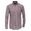 Pánská košile Casa Moda károvaná červená 7XL (56)