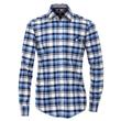 Pánská košile Casa Moda károvaná modrá 7XL (56)