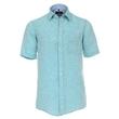 Pánská košile Casa Moda lněná zelená krátký rukáv vel. 4XL - 7XL (49 - 56)