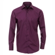 Pánská košile Casa Moda Comfort Fit fialová dlouhý rukáv vel. 43 - 46 (XL - XXL)
