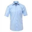Pánská košile Casa Moda Comfort Fit azurově modrá krátký rukáv vel. 43 - 46 (XL -XXL)