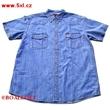 Pánská riflová košile JEANS Kamro  vel. 5XL - 12XL modrá krátký rukáv