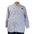 Pánská košile Kamro vel. 5XL - 12XL bílo - modré káro dlouhý rukáv