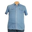 Pánská riflová košile JEANS Kamro vel. 5XL - 6XL modrá krátký rukáv