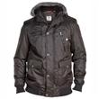 Pánská zimní bunda - parka černá KS13946B 3XL - 6XL