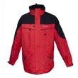 Pánská outdoorová multifunkční bunda Deproc Aspen 3 v 1 červeno-černá vodní sloupec 8000 mm 5XL až 8XL