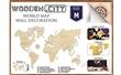 WOODEN CITY PUZZLE 3D MAPA SVĚTA M NATUR